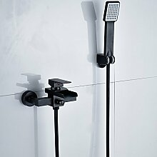 Schwarze Farbe Badezimmer Dusche Wasserhahn mit