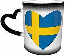 Schwarze Flagge von Schweden Herz Farbe ändern