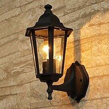 Schwarze LED Energiespar-Wand-Außenleuchte 6 Watt
