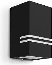 Schwarze LED Wandaussenleuchte JOVO-S - moderne