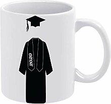 Schwarze lustige Keramik-Kaffeetasse aus