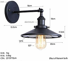Schwarze Retro Wandlampe Schlafzimmer Wohnraum