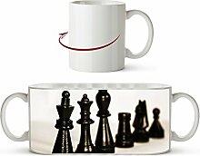 Schwarze Schachfiguren Effekt: Sepia als