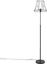 Schwarze Stehlampe mit Granny Frame 35 cm - Parte