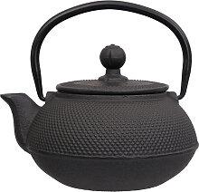 Schwarze Teekanne aus Gusseisen - Gusseisen - 600ml