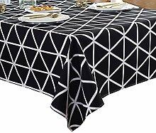 Schwarze und weiße geometrische Tischdecke,