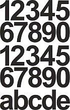 Schwarze Zahlen Aufkleber Hausnummer/Mülltonne -