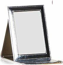 schwarzer Desktop-Spiegel Spiegel Prinzessin Spiegel Handspiegel großer quadratischer Spiegel-O