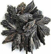 Schwarzer Fächer-Cyanit aus China, 200g., Rohsteine Minerale