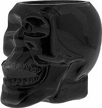 Schwarzer Glas - Totenkopf mit Duftkerze