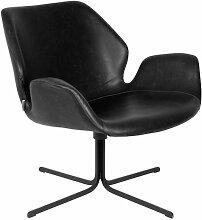 Schwarzer Nikki Lounge-Stuhl