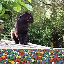 Schwarzer Panther Wandbild Grüne Bäume