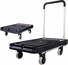 Schwarzer Plattform-LKW-Falttisch, tragbarer