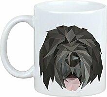 Schwarzer russischer Terrier, Becher mit einem Hund, Tasse, Keramik, neue geometrische Sammlung