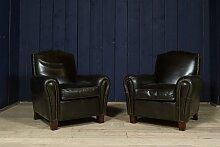 Schwarzer Vintage Clubsessel aus Leder