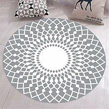 Schwarzer weißer Teppich mit geometrischem