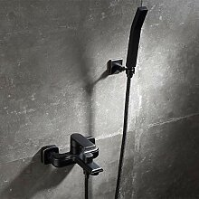 Schwarzes Duschsystem, Duschzubehör,