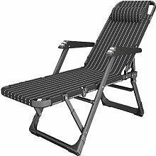 Schwarzes Extrabreit Sonnenliege Relaxliege Balkon