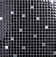 Schwarzes Glas-Mosaik-Fliesen, modernen Stil Wand-Dekor-Fliesen, heißer Verkauf Bodenbelag Mosaik, Glasfliesen elegante Badezimmer/Kamin, hochwertige Baumaterialien, LSDJ01 (11 Stücke/pack)