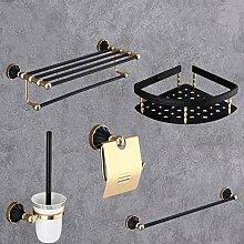 Schwarzes Gold Handtuchhalter Wc-Bürste Raum
