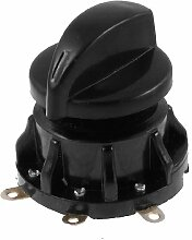 Schwarzes Kunststoffgehäuse 3P SPTT Drehzahlschalter für Ventilator
