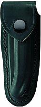 Schwarzes Leder-Etui, f. Laguiole-Messer mit 12cm