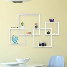 Schweberegal Roxy 17 Stories Farbe: Weiß