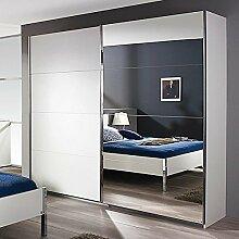 Schwebetürenschrank weiß 2 Türen B 226 cm