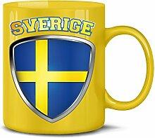 Schweden Sverige Sweden Fan Artikel 3201 Fuss Ball