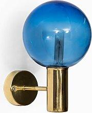 Schwedische Blaue Mid-Century V-149 Wandlampe von