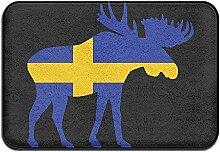 Schwedische Flagge und Elch Rutschfester