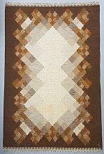 Schwedischer Brauner Rölakan Flachgewebe Teppich