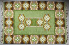 Schwedischer Grüner Rölakan Flachgewebe Teppich