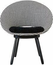 Schwedischer Stuhl mit Hahnentrittmuster und
