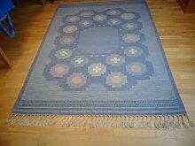 Schwedischer Teppich mit Flachgewebe von Anna