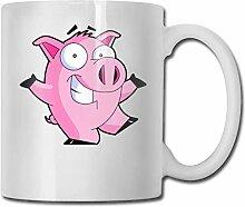Schwein mag Musik Cool Cartoons Mode Kaffeetasse