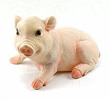 Schwein sitzend aus Kunststoff 25 x 16 cm, Ferkel,