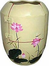 Schweiß verdunstet/Sauna/Saunen/gesunde Urn/ Nano Anion/Negativ-Ionen/weit InfraRotRay/ Hyperthermie/desinfizieren/Puls Magnetfeld/lila Ton/Unterglasur Pastellfarben und gelb-Glasur---Lotus aus klarem Wasser