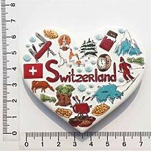 Schweiz 3D Kühlschrankmagnet Harz Handgemachtes