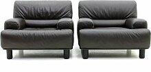 Schweizerische Vintage Leder Lounge Sessel von De