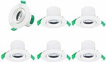 Schwenkbare 7W LED Spots Einbaustrahler