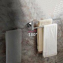 Edelstahl runden Stil an der Wand montierten Handtuchring bequem Handtuchhalter Kleiderb/ügel h/ängen Bad Lagerung Inhaber Silber DEjasnyfall