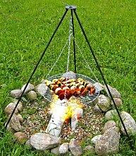 Schwenkgrill,Grill,Feuerstelle,Dreibein,Standgrill 150cm Ständer + 60cm Ros