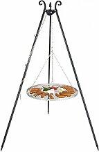 Schwenkgrill mit Dreibein und Rost aus Edelstahl (50cm)
