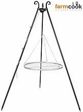 Schwenkgrill mit Dreibein und Rost aus Edelstahl (60cm)
