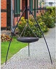 Schwenkgrill mit Kurbel - 2,00m incl. WOK/Pfanne