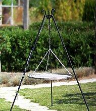 Schwenkgrill Nortpol Farmcook mit Rost aus Edelstahl 60 cm inkl. Dreibein und Kette, ohne Feuerschale