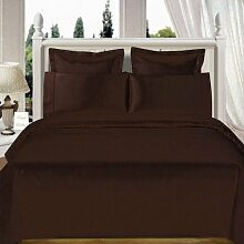Schwere 550tc Stoff 1, Bett Rock –-Schokolade