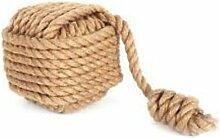 Schwere groß Cube Seil mit Ball Sackleinen braun
