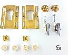 Schwere Pflicht großes Bild/Spiegel Aufhängen Kit–Messing Schlüsselloch bridgehole Kleiderbügel mit Blende–Putz & Massiv Wände–bis zu 15kg